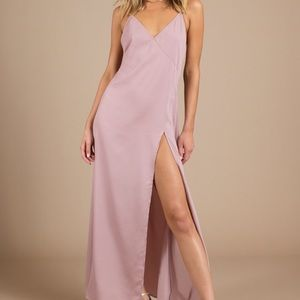 Purple / Pink Maxi dress with slit